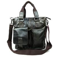Brand Design Genuine Leather Men Bag Leisure Business Shoulder Bag First Layer Cowhide Men Messenger Bag Men's Travel Bags B662