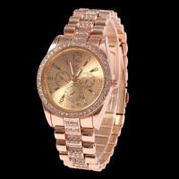 2015 New Stainless Steel Rhinestone Wrist Watches Classic Luxury Brand Watch for Men Women Wrist Watches