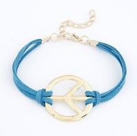 2014 new Fashion Infinity bracelet Peace sign bracelet bangle jewelry leather bracelet