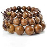 Authentic African wenge bracelet beads 12-20mm wenge sandalwood prayer beads bracelet wholesale men jewelry elastic line 0314
