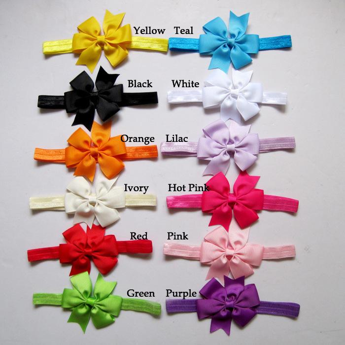 Розничная 12color выбрать младенческой tollder бантом