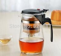 2014 High Quality 500ml  Glass Tea Pot Flower Tea Set Puer Teapot Coffee Pot High-quality Teaset Convenient Office Tea Set