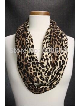 High Quality Fashion Leopard Women Animal Print Scarf Infinity Circle Loop Snood Free Shipping(China (Mainland))