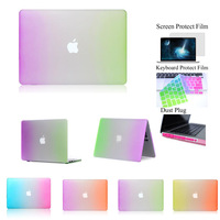 "Rainbow Rubberized See Through Ultra Slim Light Weight Hard Crystal Shell Case Cover for Macbook Pro 13 inch 13"" A1278"