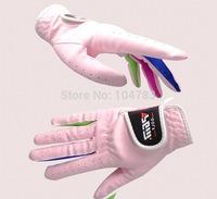 golf gloves children  girl golf gloves  super ciliated epithelium  breathable  waterproof  wear resistance  soft pink
