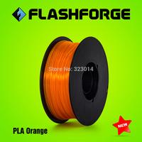 Flashforge 3D printer PLA Orange filaments,diameter 1.75mm,for Creator series.