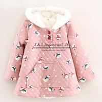 Fashionable Design Baby Girl Coat With Frozen Pattern Children Jacket Red Color Cotton Kids Overcoat OC41114-10^^EI