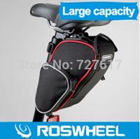 100% Original 2014 New Design ROSWHEEL Cycling Bike Bicycle Saddle Seat Bag Rear Tail Package Black 300D Polyester free shipping
