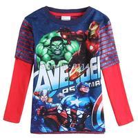 New boys long sleeve ironman American captain cotton T-shirt / children spring autumn coat / high quality kids outerwear coat