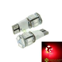 T10 149 168 W5W LED 2-Mode Red  5W 11X5630SMD 400-550LM 6000-6500K  for Instrument Light (100PCS/DC12-16V)
