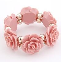 2014 new fashion intage Elasticity Rose Flower bracelet for women jewelry