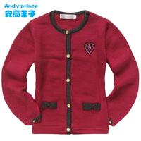 baby girl spring autumn sweater cardigan sweater long-sleeve basic shirt top sweatercoat