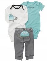 New arrival! wholesale carter's baby boy  3pcsshort slleve bodysuit with pants set, original, 6M only,3sets/lot free shipping