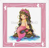 "Wall Home Decoration Cross StitchPrecision  Printing"" The Little Mermaid "" Cross-Stitch Kit , DIY Cross Stitch Sets,"