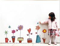 45*60CM Wall sticker Skirting small potted garden Removable stickers home decor adesivo de parede TZ05