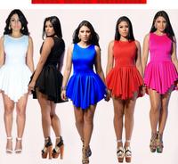 New sexy mini women summer bandage dress irregular vestidos casual desigual patterns one-piece dress evening party dresses