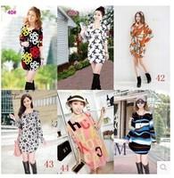 Plus size autumn and winter women basic shirt mm medium-long loose top t-shirt long-sleeve dress shirt