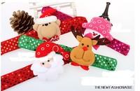 New Christmas pat circle pops circle bracelet decorated Christmas Party Supplies Christmas 20pcs/lot Free shipping