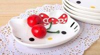 Hello kitty Kid Child Gift Small Ceramic Dessert Dish Soap Holder Fruit Rice Plate Cartoon Home Deocration Tableware Dinnerware