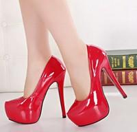 big size eur 34-45 patent leather girls sexy red bottom high heels ladies wedding shoes woman 2015 platform women pumps GD141516