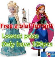 Education doll 2PCS Frozen Princess11.5 Inch Frozen Dolls Frozen Elsa and Frozen Anna Good Girl Gifts Girl Doll free shipping