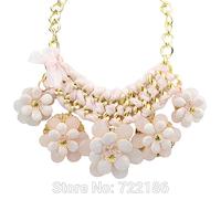 2014 New Fashion Bohemian Necklace Charming Created Gemstone Flower Choker Necklace