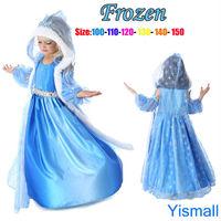 Wholesale(1 lots=5 pcs) 2014 New Fashion Christmas Frozen Elsa Dress Girls Icelyn Winter Princess Paradise Costume Snow Queen