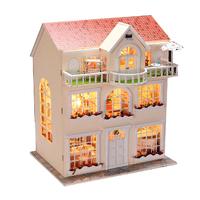 Diy assembling model large luxury birthday gift girls wooden toys dollhouse