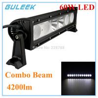 60W Type/H Cree-6 LED Single Work Light Bar DIY Used in Car/Boat/Auto Headlight Combo