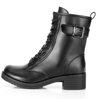 2014 fashion boots PU leather boots cowhide lacing martin boots