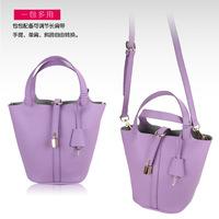 Free shipping/new 2014/bags/woman handbag/genuine leather/bucket/tote/shoulder bag lady/fashion designer/brand