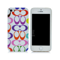 New Style simple colorful Circle geometric pattern hard cover abstract phone case for iphone 5 5s PT8079