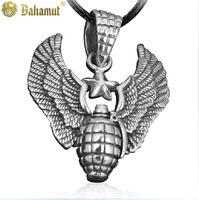 Bahamut 925 silver jewelry The Expendables The Allies Grenade Pendant Men's Necklace Male ornaments Free shipping