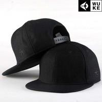 Pentagram embroidery Hip-hop hat, baseball cap / tide flat brimmed hat men and women skateboard / Korean version of the hat.