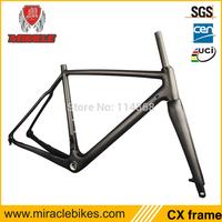 Wholesale Hot Selling CX Thru Axle frame, Carbon Cyclocross Bike Frame Disc Brake 56cm BSA & BB30