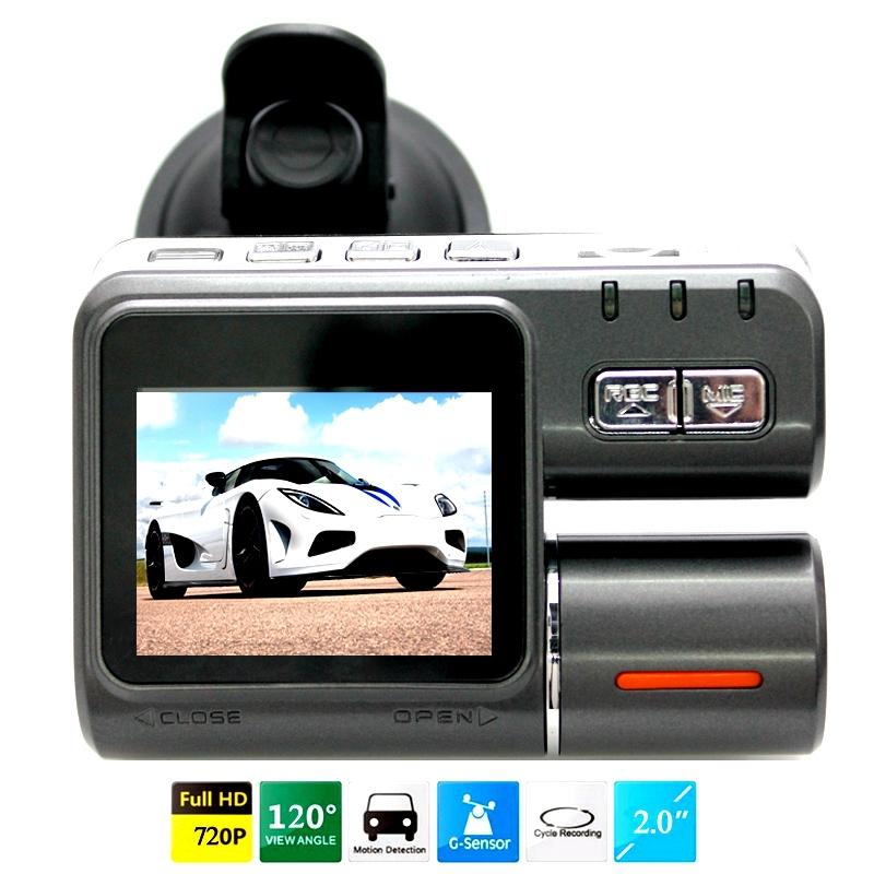 "2014NEW 720P carro DVR Veículo Blackbox DVR 2.5 "" TFT LCD Tela 4 IR LED Night Vision 120 graus Vista de Ângulo i1000(China (Mainland))"