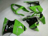 Custom Motorcycle Fairing kit for KAWASAKI Ninja ZX6R 00 01 02 ZX 6R 636 2000 2001 2002  Green black Fairings set+7Gifts KM50