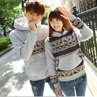 Brand Women's Clothing Homies Hoodies Long Sleeve Fleece Lined Couple Hoodies Lovers Sweatshirts Fashion Pullovers Coat