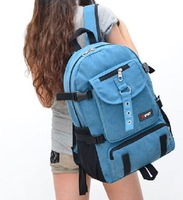 Fashion preppy style canvas backpack  cute sport backpacks students school packets college shoulder rucksack  1210 IPDA  PACK