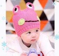 MZ079 2014 autumn winter The frog children's hat Cartoon warm knitting hat retail