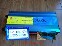 LCD Display 1500 1500W Pure Sine Wave Power Inverter Converter 12V DC to 220V 230V 240V AC 3000 Watt Peak