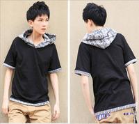 DQ-64 Fashion Harajuku with hood Rock Korean Casual Hip hop t shirts Brand Sport  shirt men skateboard dsq men tshirt clothing