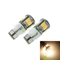 T10 149 168 W5W LED 2-Mode Warm White 5W 11X5630SMD 400-550LM 3000-3500K  for Car Signal Light (DC12-16V)