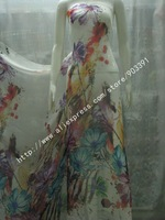 New Arrival Fashion 100% Pure Silk Chiffon Fabric Textile Material For Dressmaking Scarf Shawls By Meter C0852