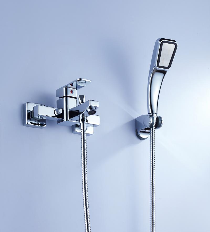 Shower handheld simple shower set shower faucet mixing valve bathtub set full(China (Mainland))