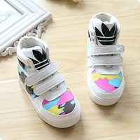 2014 autumn child sport shoes male female child princess single shoes leather single boots Camouflage baby shoes