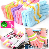 Thickening loop pile thermal magic gloves adult female gloves towel gloves Children gloves