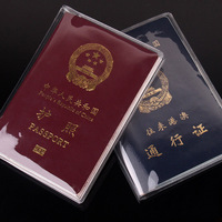 Waterproof passport covers case PVC transparent passport bags passport protective sleeve 10pcs/lot  CC028C