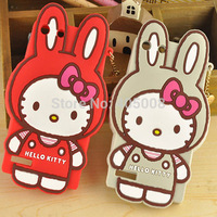 Huawei G6 Cases 3D Cute Hello Kitty Rabbit Silicone Soft Case Cover Huawei Ascend G6 Cartoon Cases Cover Free Shipping 10pcs/lot