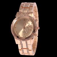 2015 New High Quality Watch Wholesale Full Steel  Women Luxury Brand Jewelry Watch Quartz Wrist Watch